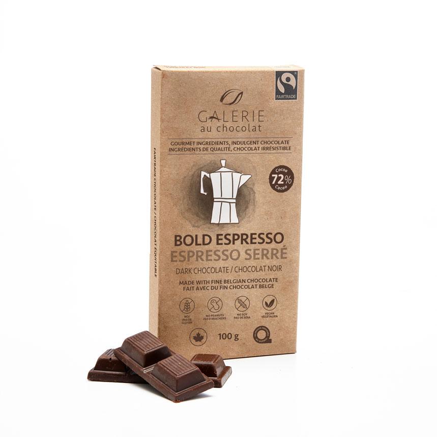 Galerie Au Chocolate - Bold Espresso Dark Chocolate Bar